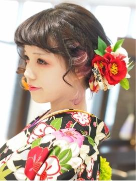 【ショート\u0026ボブ編】成人式!振袖に!絶対可愛いヘアアレンジ集♪
