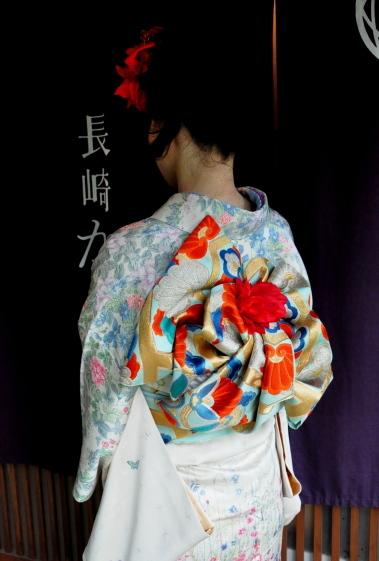 お着物ごっこ 袋帯の変わり結び5種類    さき (3659)