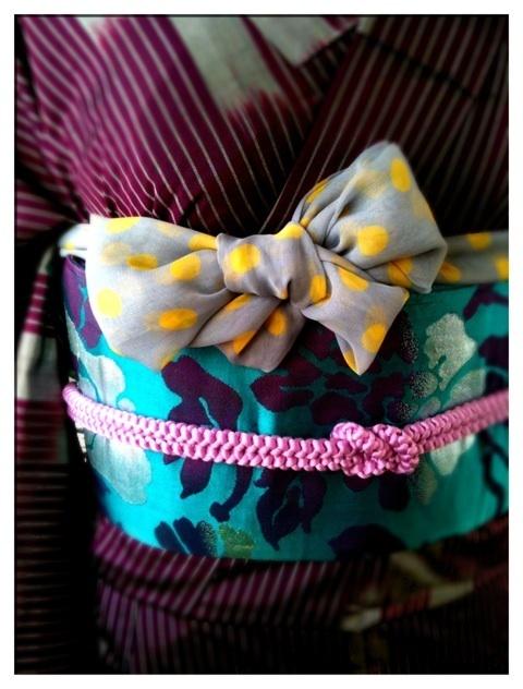 帯揚げリボン|妊娠10カ月ヒメノルミのアンティーク着物屋さんと奈良生駒の着付け教室 (3721)