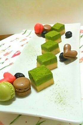 ⑤和な生チョコ♡二層でオシャレに♡