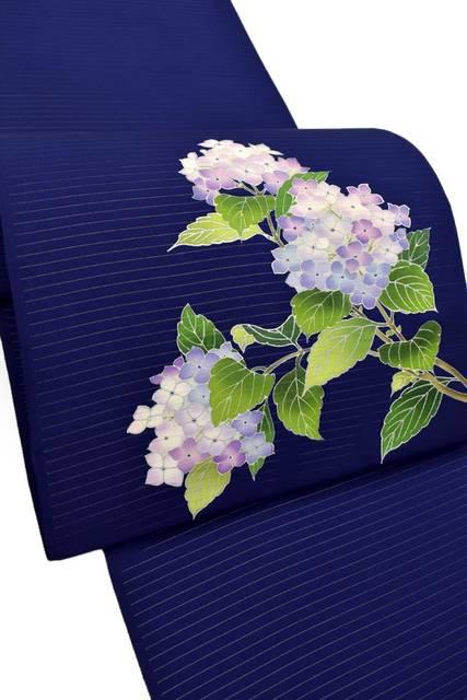 塩瀬絽九寸名古屋帯 「紫陽花」